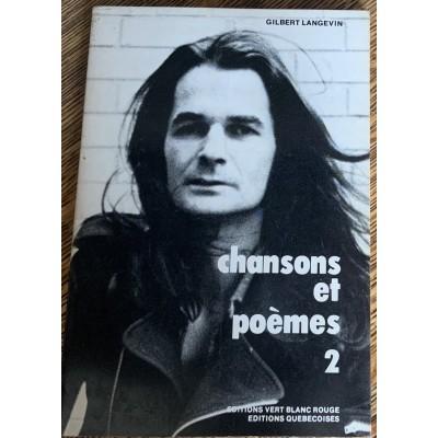 Chanson et poèmes 2 De Gilbert Langevin