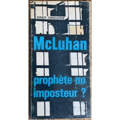 Mcluhan prophète ou imposteur De Sidney Finkelstein