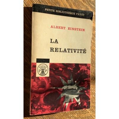 La Relativité - Collection Petite Bibliothèque Payot De Albert Einstein