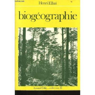 Biogéographie De Henri Elhaï