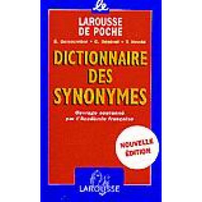 Dictionnaire des synonymes nouv. éd. De Genouvrier & Al